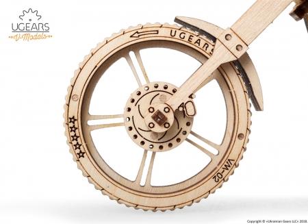 Puzzle 3D Motocicleta VM-02 din lemn Ugears4