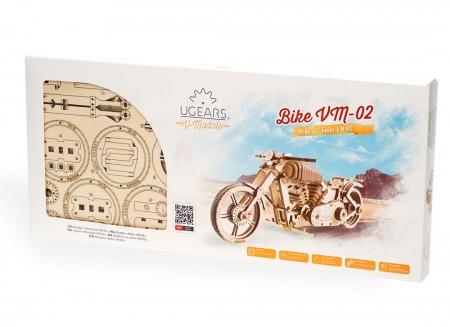 Puzzle 3D Motocicleta VM-02 din lemn Ugears2