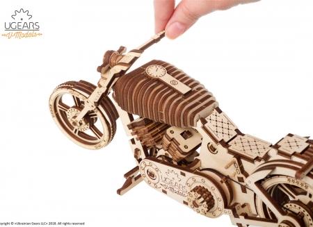 Puzzle 3D Motocicleta VM-02 din lemn Ugears18