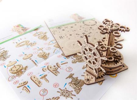 Puzzle 3D Organizator birou cool Ugears9