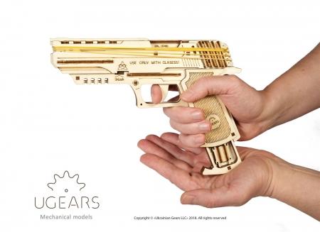 Puzzle 3D Pistol Wolf din lemn Ugears8