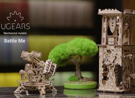 Puzzle 3D Turn Archballista din lemn Ugears11