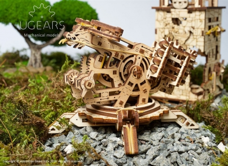 Puzzle 3D Turn Archballista din lemn Ugears14