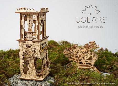 Puzzle 3D Turn Archballista din lemn Ugears10