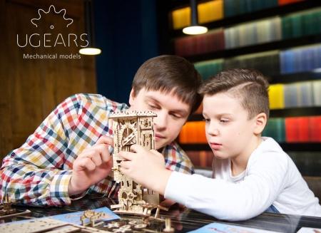 Puzzle 3D Turn Archballista din lemn Ugears3