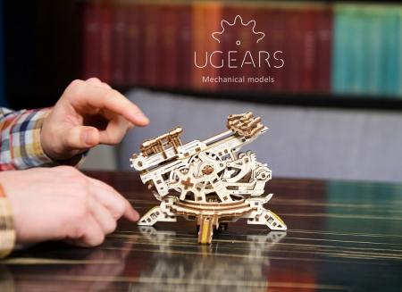 Puzzle 3D Turn Archballista din lemn Ugears12