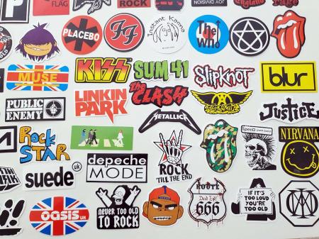 Set 100 stickere bagaje Rock the world4