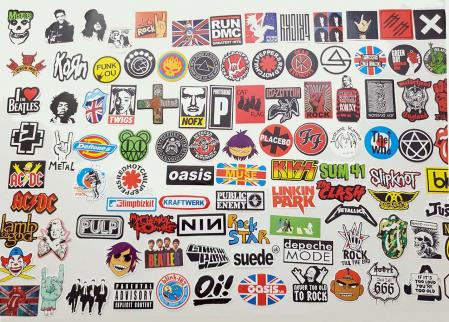 Set 100 stickere bagaje Rock the world1