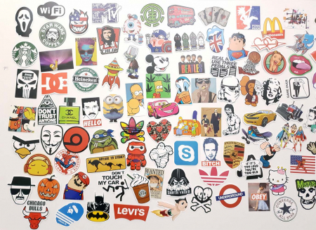 Set 100 stickere laptop Indraznete2