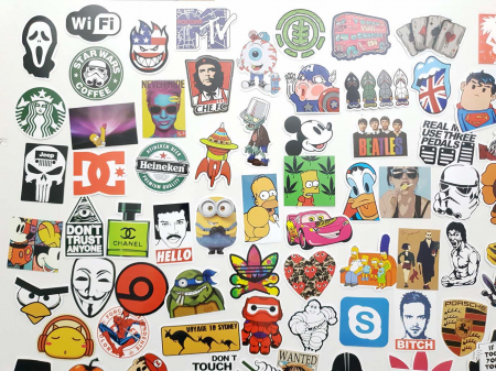 Set 100 stickere laptop Indraznete3
