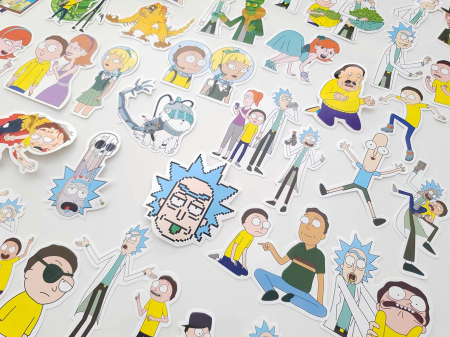 Set 100 stickere laptop Rick and Morty4