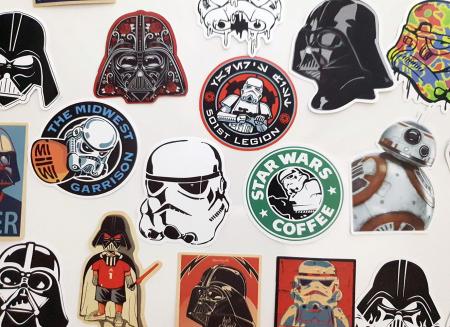 Set 25 stickere laptop Star Wars1