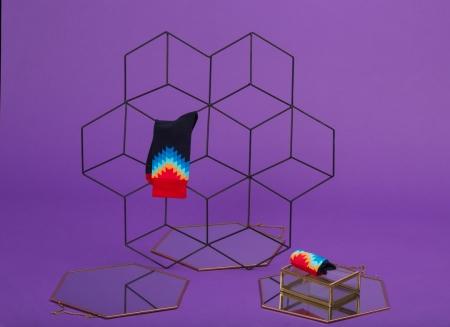 Set 5 perechi sosete colorate cu modele vesele5