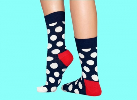 Set sosete Happy Socks cu dungi si buline colorate
