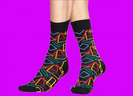 Sosete geometrice Happy Socks0