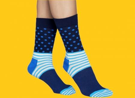 Sosete Happy Socks albastre funky