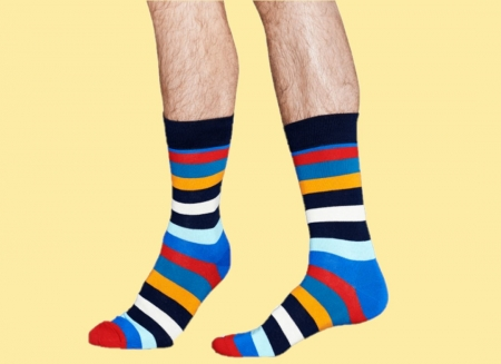 Sosete Happy Socks cu Dungi Colorate2