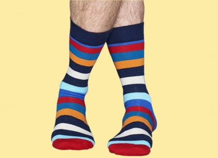 Sosete Happy Socks cu Dungi Colorate1