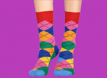 Sosete Happy Socks cu romburi1