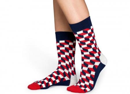 Sosete Happy Socks modele geometrice rosii4