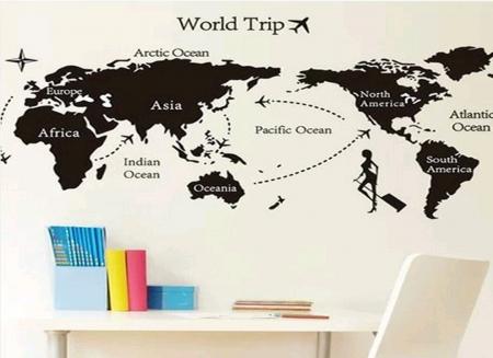 Sticker Perete Harta Lumii XL0