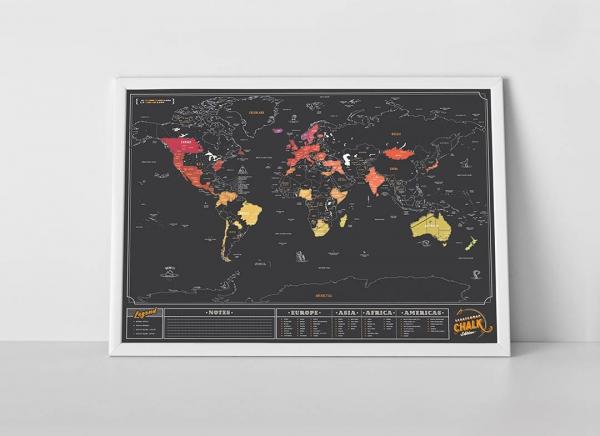Harta razuibila inscriptionabila cu creta