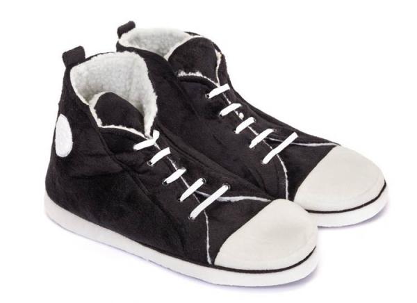 Papuci de casa tenisi negri