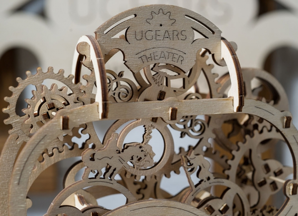 Puzzle 3D Teatru Mecanic din Lemn Ugears