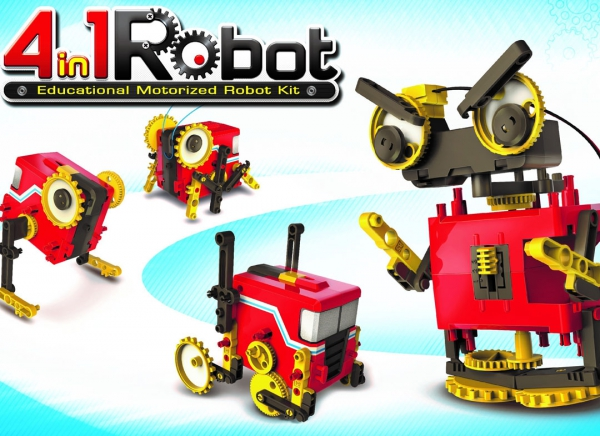 Robot educational motorizat 4in1