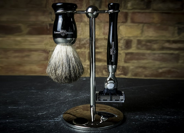 Set cadou barbati pentru barbierit 3 piese Ebony Fit, Edwin Jagger