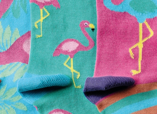 Set 3 Sosete Flamingo