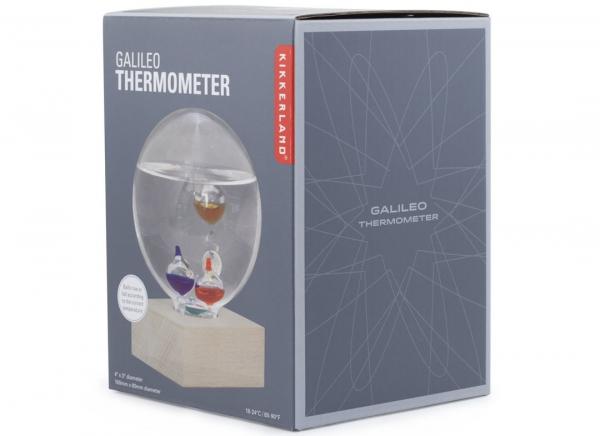 Termometru Galileo cu suport de fag