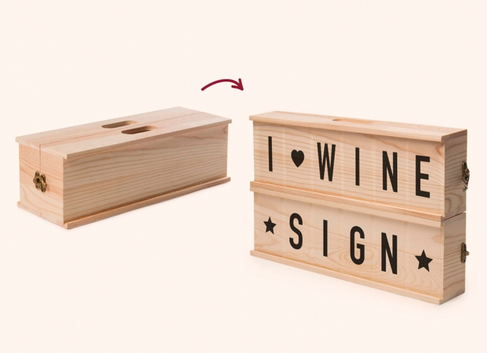 Caseta cu mesaje pentru vin