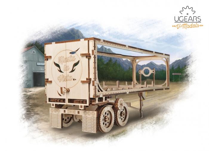 Puzzle 3D Remorca pentru camion VM-03 din lemn Ugears