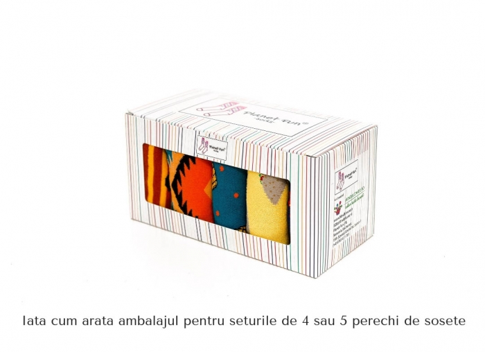 Set 5 perechi sosete colorate Artistice