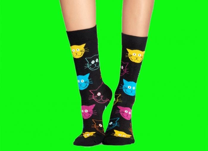 Sosete Happy Socks cu pisici