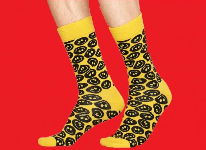 Sosete Happy Socks Smiley Face Yellow