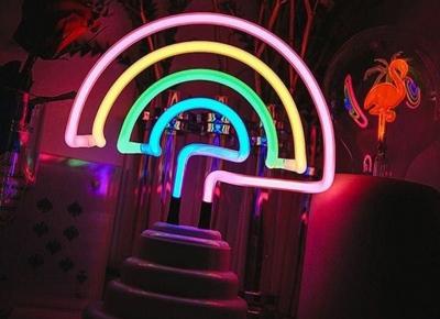 Lampa Neon Curcubeu