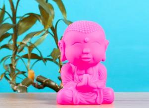 Lampa de veghe Buddha Roz