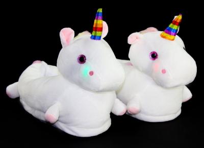 Papuci Unicorn cu LED-uri