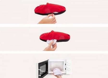 Papuci cu incalzire la microunde