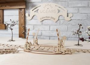 Puzzle 3D Cale Ferata cu Bariera din Lemn Ugears