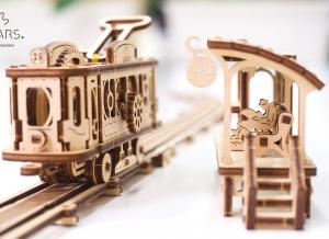 Puzzle 3D Linie de Tramvai din Lemn Ugears