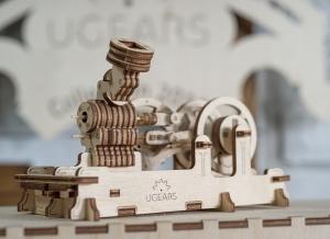 Puzzle 3D Motor Pneumatic din Lemn Ugears