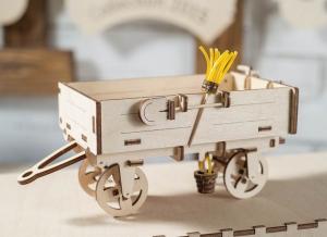 Puzzle 3D Remorca din Lemn pentru Tractor Ugears