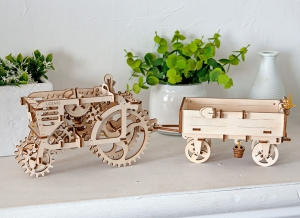 Puzzle 3D Tractor din Lemn Ugears