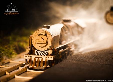 Puzzle 3D Tren V- Express cu abur din lemn Ugears