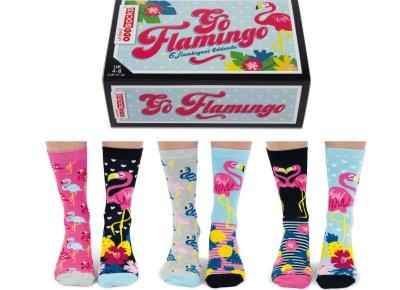 Set 6 Sosete Flamingo