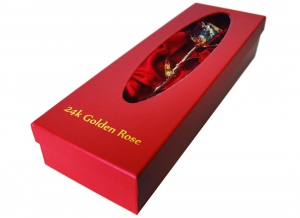 Trandafir placat cu aur de 24K
