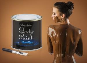 Vopsea de corp cu ciocolata comestibila si pensula